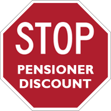 Special Prices for Pensioners